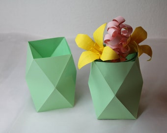 2pcs origami vase / Flower Vase / Home Decor / Vases / Paper Vase