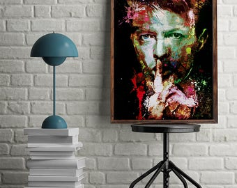 David Bowie Poster David Bowie Wall Art Instant Download David Bowie Print David Bowie Art David Bowie Pop Art Printable Gift Pop Art Poster