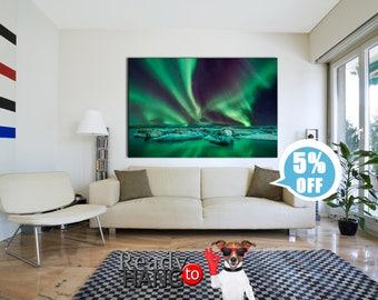 Aurora canvas, Aurora wall art, Aurora Borealis canvas, Aurora Borealis art, Aurora Borealis print, Aurora Borealis, Aurora Borealis picture