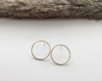 Sterling Silver Karma Earrings, Circle Earrings, Eternity Earrings, Represents Eternal Love. Perfect for Everyday, Gift for Her, Wife Gift