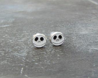 Small Cute Nightmare Before Christmas Jack Skellington Stud Earrings
