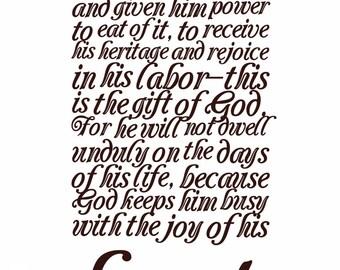 Scripture Quote Instant Download Ecclesiastes