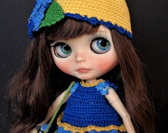 Summer SALE and free shipping! Ooak Custom Blythe Doll: Mytyl and the blue tits