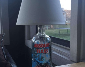 Absolut Limited Edition Texas Table Lamp (750ml Bottle)