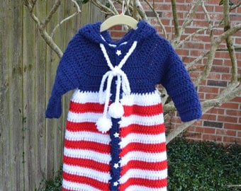 Crochet Toddler Robe with Hood