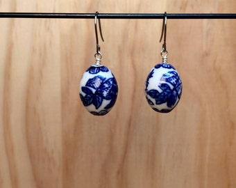 Blue & White Earrings