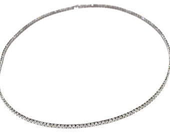 River (5,30 cts) diamond necklace white gold 18K