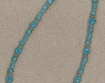 Amazonite, Labradorite, and Sterling Silver Necklace Handmade by Chris Hay