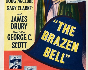 """Vintage Movie poster for the film """"The Brazen Bell"""""""