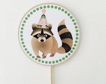 Raccoon Cupcake Topper