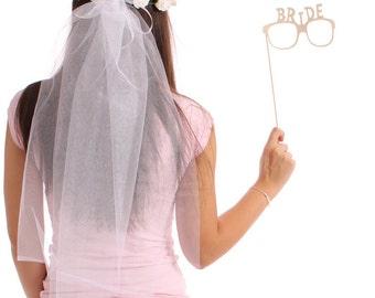 Bridal Veil, Wedding Veil, Bride Veil, Bachelorette Veil, Bride To Be, Bridesmaids, Maid of Honor, Bachelorette Party, Bride Gift