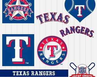 Texas Rangers SVG, Texas Baseball Clipart, Texas Rangers DXF, Baseball Clipart, Texas Clipart,  Clipart SVG, mb-25