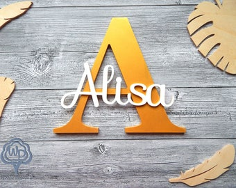 Nursery Name Sign Letter Personalized Wooden name Nursery Decor Kids Wooden Wall signs Personalized Kids Wall Names Personalized Letters.
