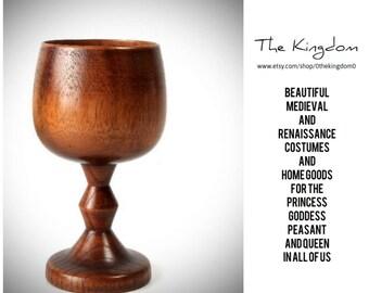 The Artess Goblet/Wood Cup/Renaissance Faire Attire Accessory/Medieval Renaissance Faire Cup/Kitchen Wood Cup Tumbler Mug/TheKingdom