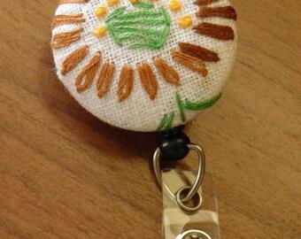Vintage Embroidery Badge Reel
