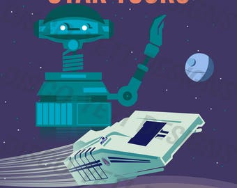 Vintage Disney World WDW Star Tours Poster