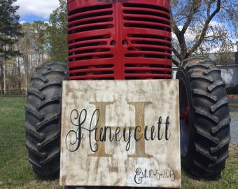Rustic Name Sign with Established Date