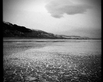 Black and White photography, b&w, landscape photography, nature photography, fine art, pictures, gift, Cloud, Alvord Desert