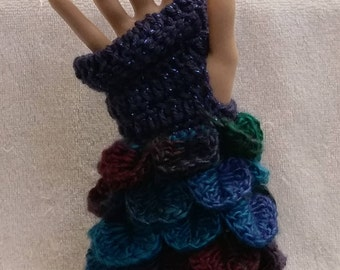 Dragon Scale Fingerless Glove