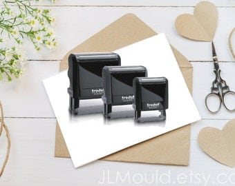 JLMould Custom Personalized Self Inking Red Rubber Stamp Choose Ink Color Logo Business Wedding Your Art or We can Help with Art