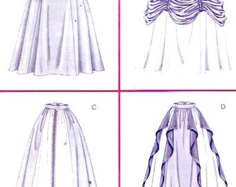 Historical Renaissance skirt sewing pattern McCalls 4090 Womens costumes Size 14 to 20 UNCUT