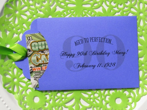 90th Birthday Favors  - Adult Birthday Favor - 90th Party Favors - Milestone Birthday - 90th Birthday - Birthday Lotto - Adult Favors