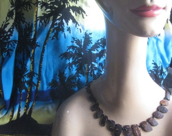 Vintage Coconut Shell Necklace