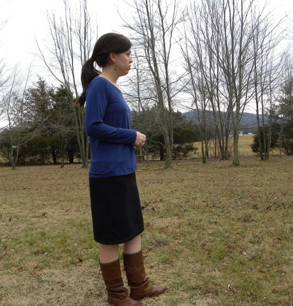 Calling- Organic Cotton Sweatshirt Fleece Pencil skirt- choose your length - Made in the USA