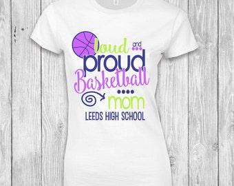 Proud Basketball Mom T-Shirt, Basketball Mom T-Shirt, Basketball Mom Spirit Wear