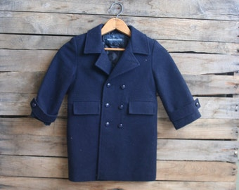 SUPER SALE - Vintage Blue Vintage Lined Coat by Brian Matthews Size 3T