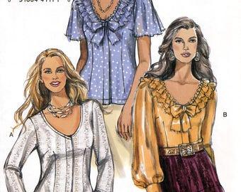 Vogue V8324 Sewing Pattern for Misses' Blouse - Uncut - Size 14, 16, 18, 20