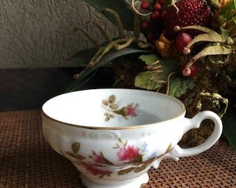 Royal Rose Tea Cup Vintage Moss Rose Teacup Fine China Japan ~ #5417