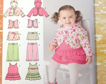 Simplicity 2572 Babies' Jumper, Skirt, Pants, Hoodie or Vest Sizes XXS-L