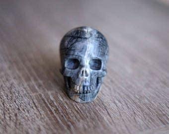 Picasso Jasper Stone Carved Crystal Skull