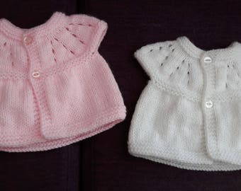 New hand knitted prem cardigan