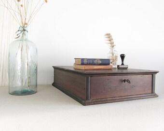 wood file cabinet,storage box,desk organizer,desk caddy,vintage wood drawer,rustic storage,farmhouse, wood cubbies,library card catalog