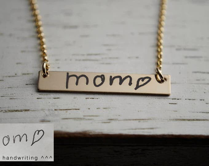 Featured listing image: Actual Handwriting Necklace - Custom Handwriting Jewelry - Create Handwriting into a Keepsake - Personalized Memories Necklace   Handwritten