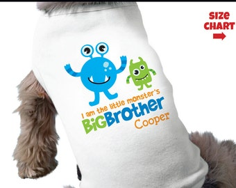Monster Big Brother Dog Shirt - Personalized Dog Shirt