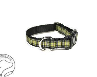 "NEW - Cornish National Tartan Dog Collar / 3/4"" (19mm) Wide - Martingale or Side Release / Choice of collar style and size"