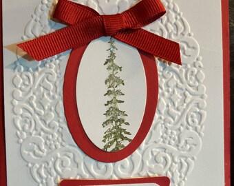 Christmas Tree Greeting Card  #HOL C-7