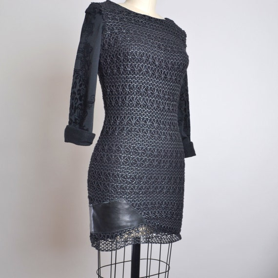 Mini Black Dress - OOAK Black Mini Dress - Night Out Black Dress - Night out Dress - Black Dresses - Size 4 Black Dress