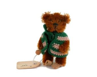 Antique Teddy Bear Schuco Piccolo Brown Mohair w/Felt Pads Miniature German Jointed Bear