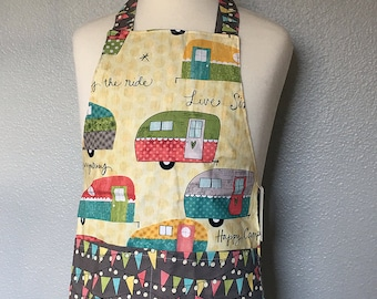 Childrens Apron -- Vintage Campers -- Ready to Ship