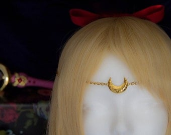 Crescent moon circlet / tiara inspired in Sailor Moon Crystal - Serenity - Venus - SailorMoon