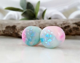 "Opal Plugs - Opal Gauges - Made to Order 6g, 4g, 2g, 0g, 00g, 7/16"", 1/2"", 9/16"", 5/8"", 3/4"", 7/8"", 1"""