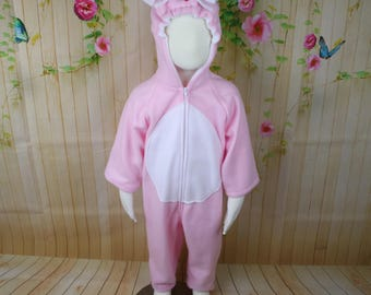 Pink Kitty Fleece Baby Costume