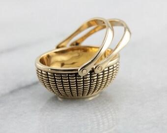 Beautiful Glenaan 14K Gold Nantucket Basket N21H5T-N