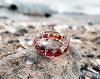 Garnet ring garnet necklace promise ring terrarium jewelry zodiac jewelry capricorn ring garnet jewelry january birthstone clear resin rings