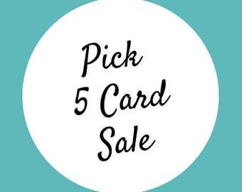 Pick 5, Greeting Card Set, Greeting Card Pack, Card Set, Thank you cards, Funny Greeting Cards, Cards, Gift Set