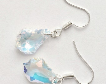Swarovski Crystal AB Earrings, Swarovski Baroque Earrings, Bridal Earrings, Swarovski Jewelry